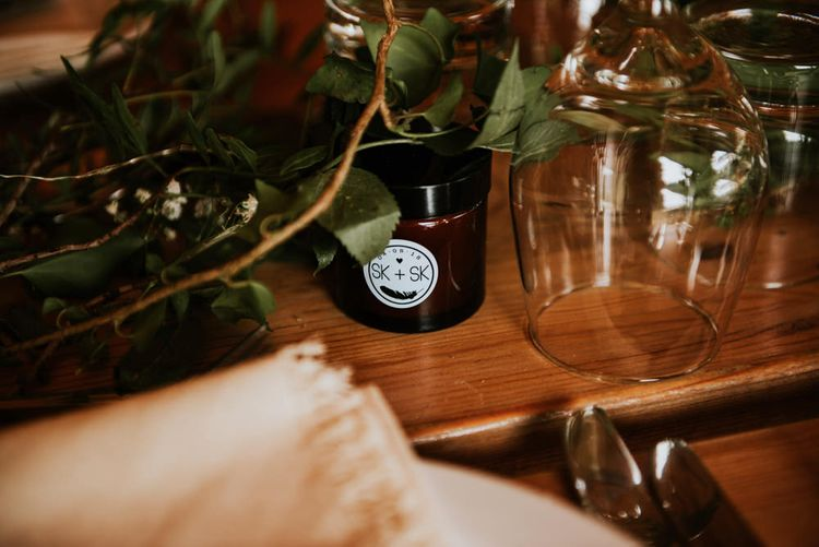 Personalised Soy Candles For Wedding // Image By Rosie Kelly Photography