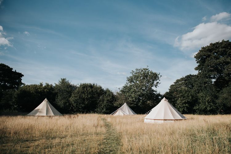 Glamping For Wedding Guests // Image By Rosie Kelly Photography