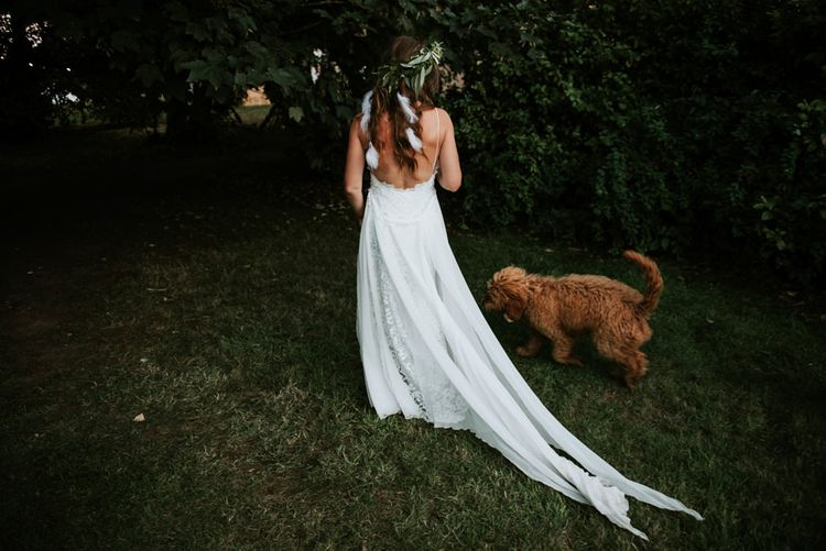 Bride In Hollie Dress By Grace Loves Lace // Image By Rosie Kelly Photography