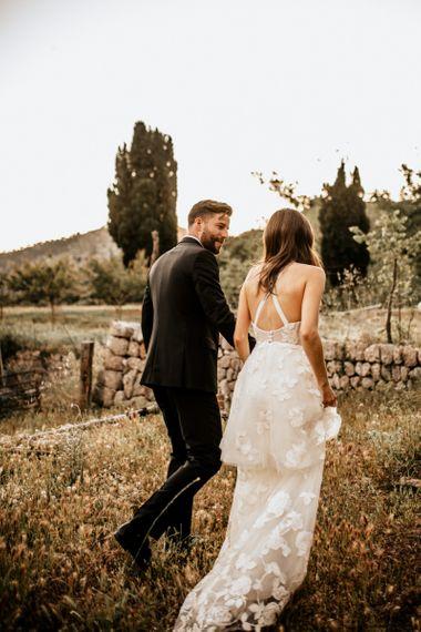Bespoke Emma Beaumont lace wedding dress