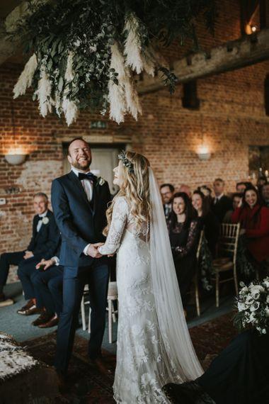 Fitted lace Rue de Seine wedding dress