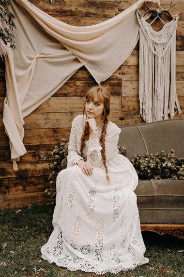 Broderie anglaise boho wedding dress. Boho wedding dresses