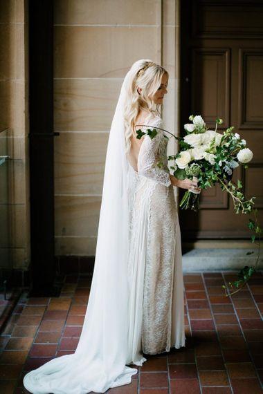 Bride in Grace Loves Lace Wedding Dress