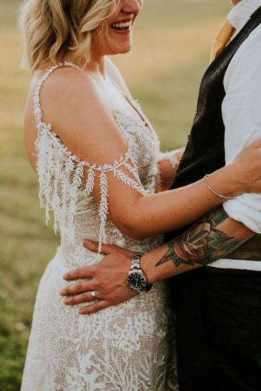Delicate Grace Loves Lace boho wedding dress sleeve detail