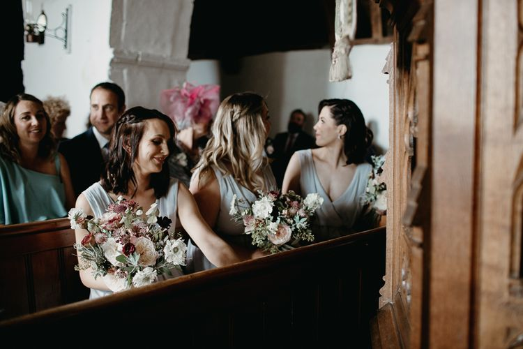 Bridesmaids at the Church Wedding Ceremony