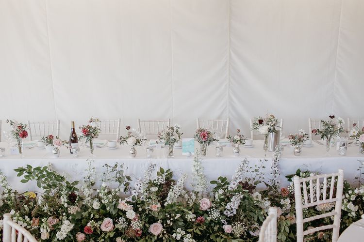 Top Table Wedding Flowers by Joanna Truly Floral Design