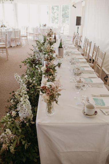 Wild Wedding Flower Arrangements for Wedding Reception