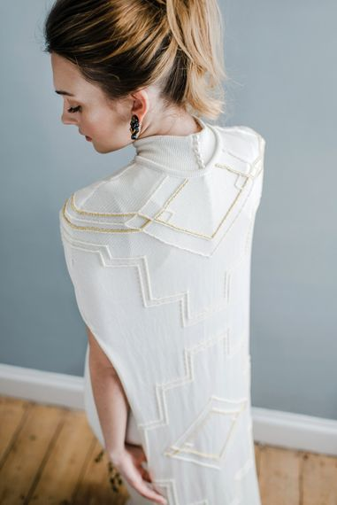 Knitted Silk Cape By Coop Couture