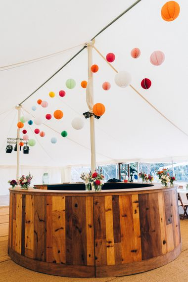 Coloured Lanterns For Marquee Wedding // Image By Casey Avenue Photography