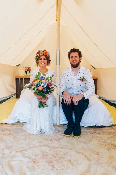 Wedding Night Glamping For Bride & Groom //  Images By Casey Avenue Photography