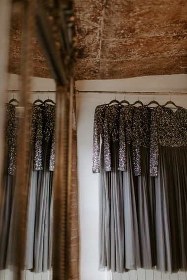 Charcoal Grey Bridesmaids Dresses // Images By Grace Elizabeth Photo And Film