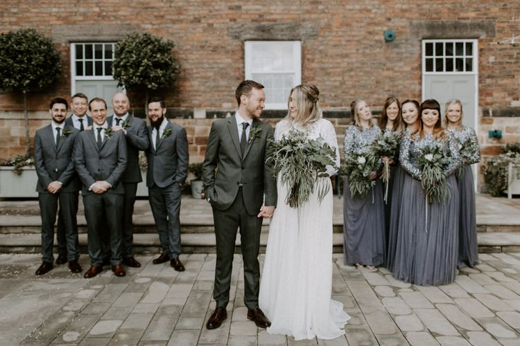 Bridesmaids In Charcoal Grey // Images By Grace Elizabeth Photo And Film