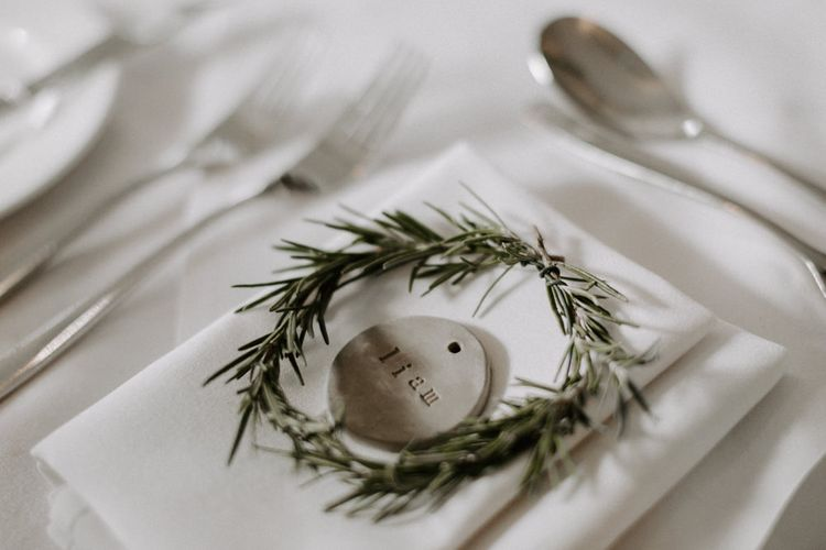 Clay Place Settings For Wedding Guests // Images By Grace Elizabeth Photo And Film