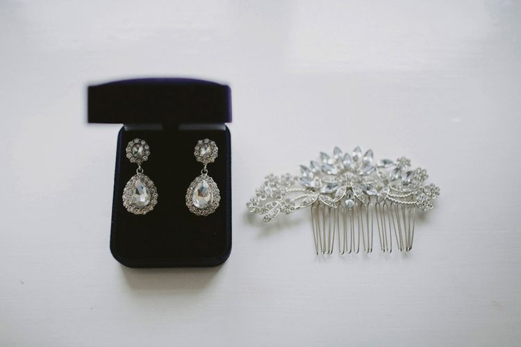 Elegant Silver Bridal Accessories // Image By David Jenkins Photography