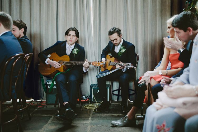Acoustic Guitar For Wedding Ceremony // Image By David Jenkins Photography