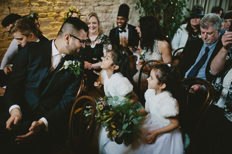 Winter Wedding Outfit For Flower Girls // Image By David Jenkins Photography