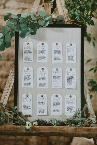 Table Plan For Wedding // Image By David Jenkins Photography