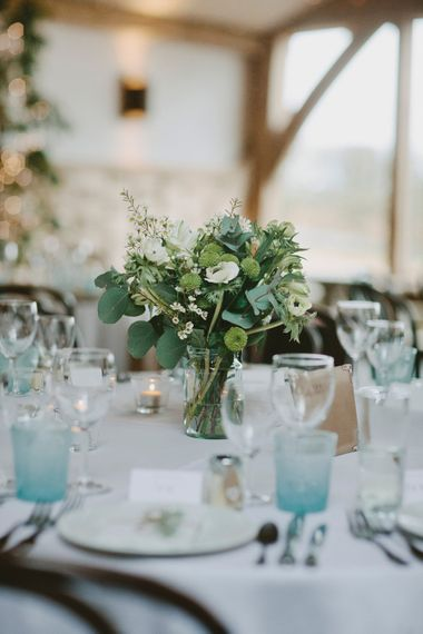 Winter Wedding Flowers // Image By David Jenkins Photography