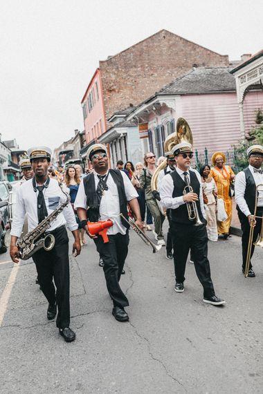 Brass Band Wedding Procession