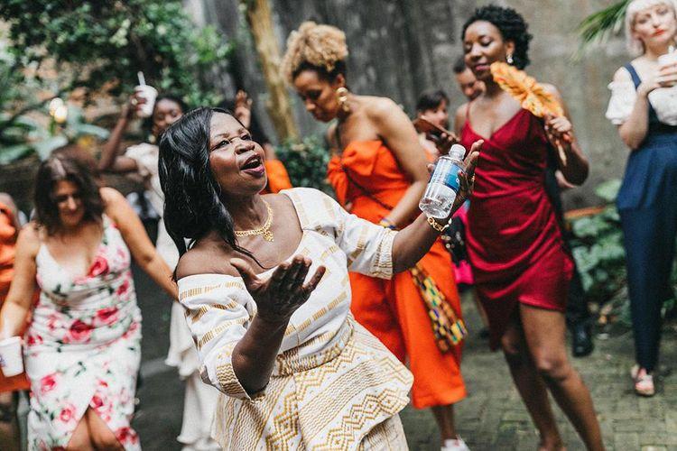 Mother of the Bride Enjoying the Wedding Entertainment
