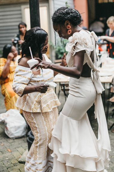 Bride and Mother of the Bride Dancing Together
