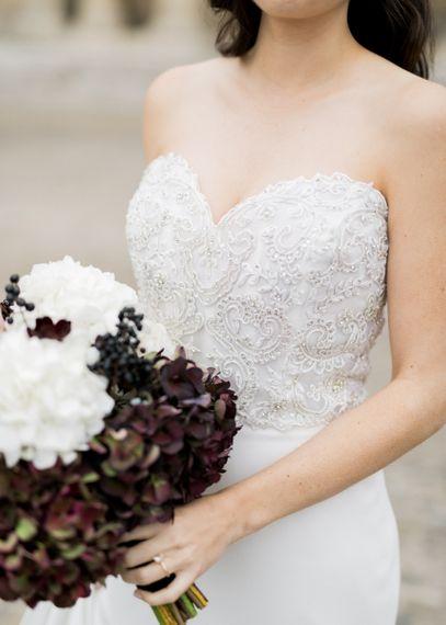 Bride in Tara Keely Wedding Dress with Intricate Beaded Bodice