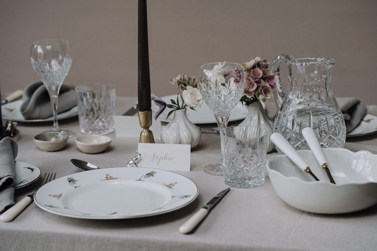 elegant tableware from the Wedding Present Co styled by By Cheani