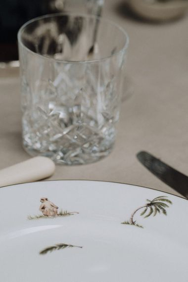 Animal printed tableware from the Wedding Present Co.