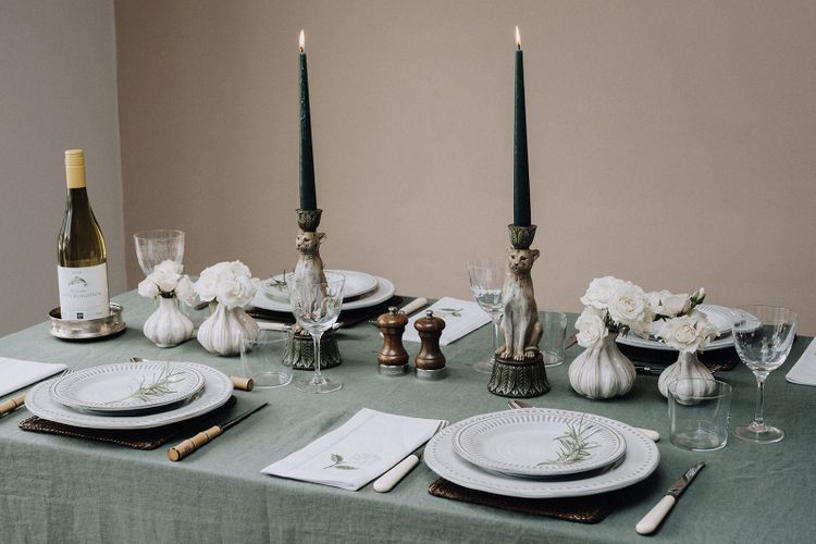 tablescape style By Chenai with the Wedding Present Co. items