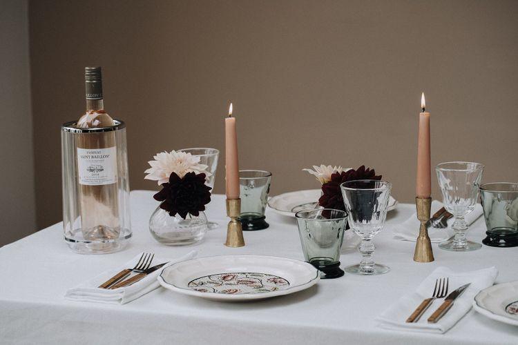 Blush tablescape decor by Chenai and The Wedding Present Co.