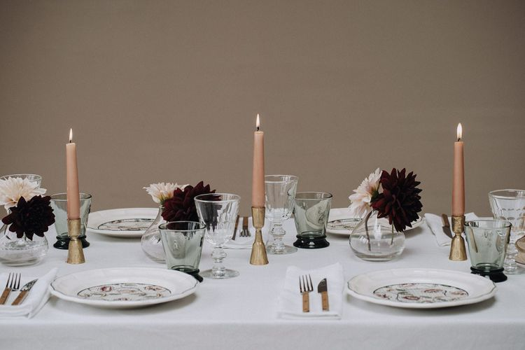 Elegant table setting with items from the Wedding Present Co. styled By Chenai