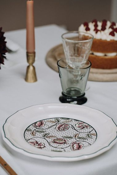 Floral patterned dinner service from the Wedding Present Co.