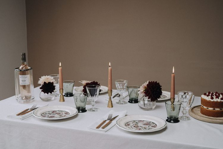 Table styled by Chenai with the Wedding Present Co. gift list items