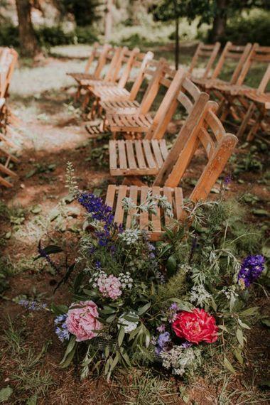 Outdoor ceremony wedding  flowers