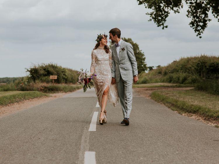 Platform wedding shoes for bride