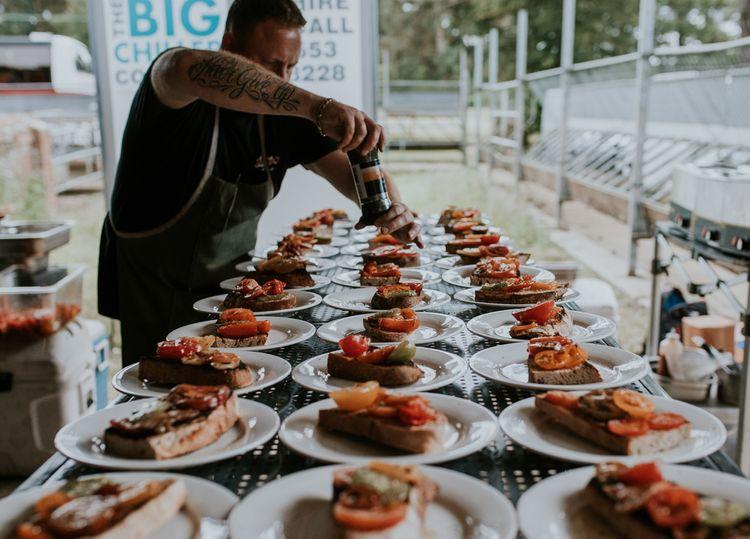 Wedding food at Norfolk wedding venue