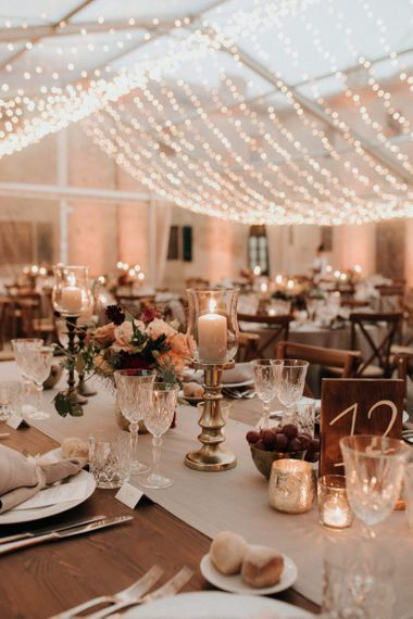 Stunning table set up in clear-span marquee by destination wedding planner Giulia Alessandri