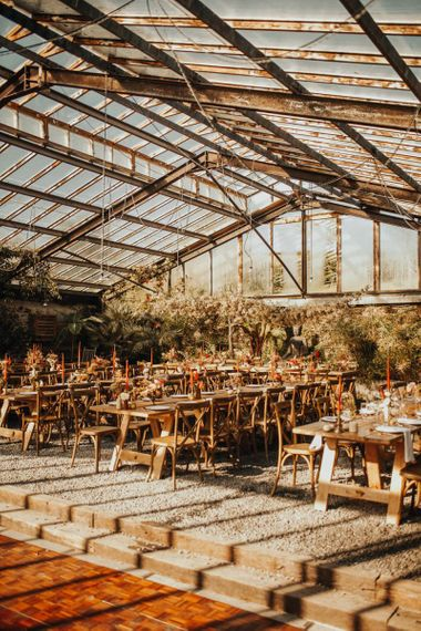 Rustic glass house wedding