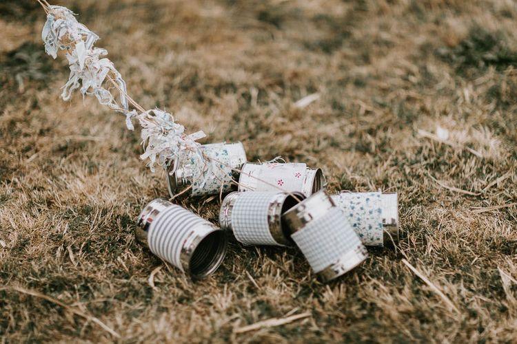 DIY Tin Cans for Wedding Car