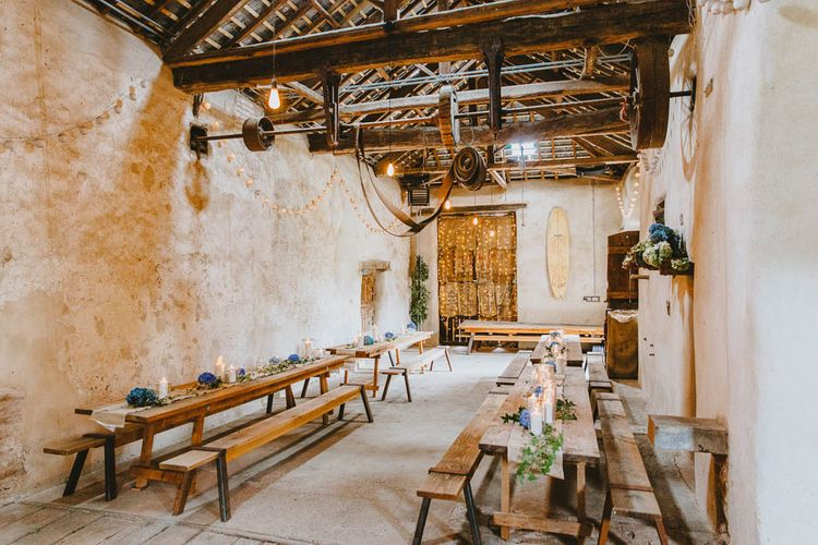 Windout Barn, Exeter, Devon Wedding Reception Decor