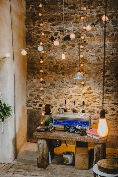 Coffee Bar with Lights