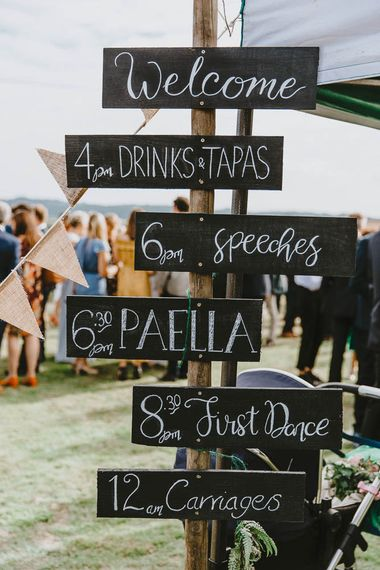 Chalkboard Order of The Day Sign Post