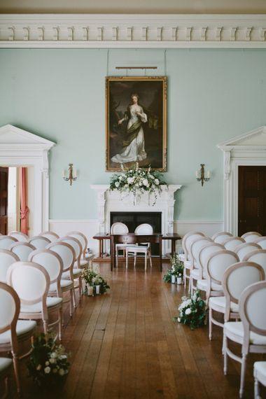 Ceremony set up at Kirtlington Park wedding venue