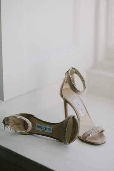 Jimmy Choo embellished wedding shoes