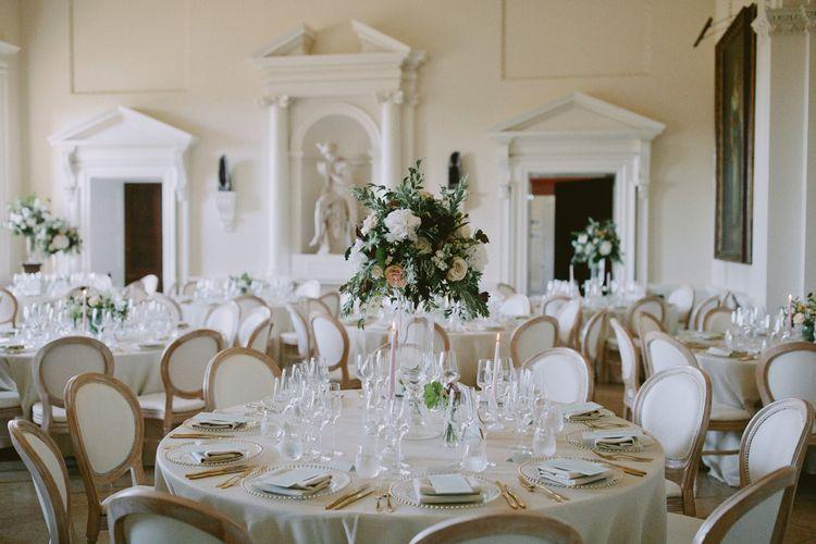 Kirtlington Park wedding breakfast decor