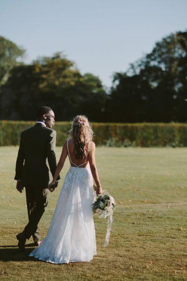 Backless wedding dress for Kirtlington Park wedding