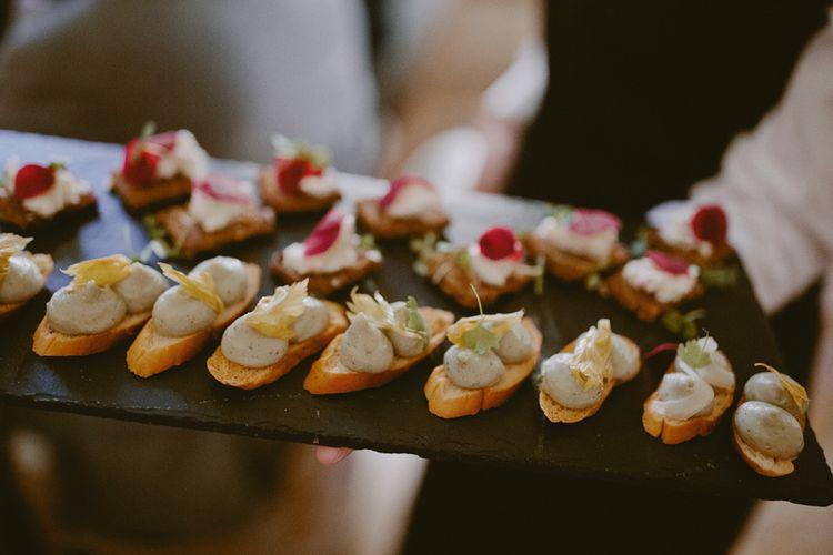 Canapés at wedding