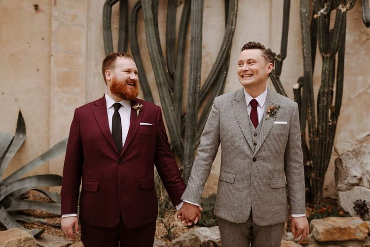 Mr and Mr portrait at Syon Park wedding by The Curries