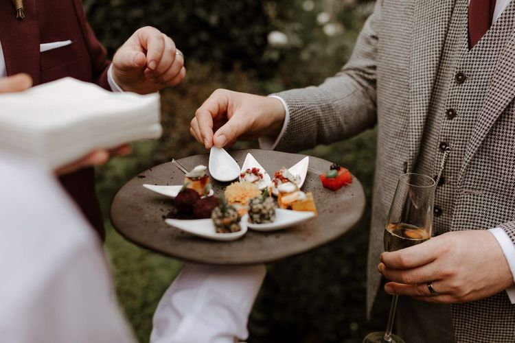 Wedding canapés at Syon Park
