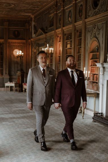 Gay couple at Syon Park wedding